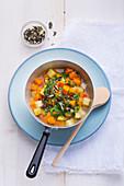 Potato and pumpkin stew