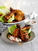 Tikka drumsticks with raita (India)