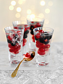 Currants in vodka jelly
