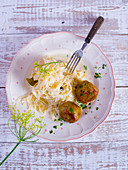 Sauerkraut and grain dumplings