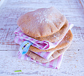 A stack of wholemeal unleavened bread