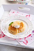 Sweet pierogi with cottage cheese (sweet dumlings)