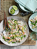 Rice noodles with crabmeat (Asia)
