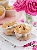 Plum and almond muffins