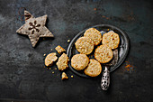 Christmas hazelnut biscuits