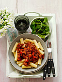 Rigatoni with beef ragout