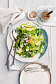 Zucchini, pea and fetta salad