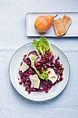 Beetroot salad with Camembert