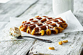 Belgian pumpkin waffles with cinnamon mascarpone