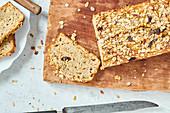 Banana bread made with Bircher muesli
