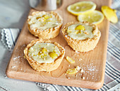 Mini lemon tarts made in muffin tins