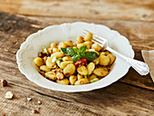 Gnocchi with fennel, celeriac and nut butter