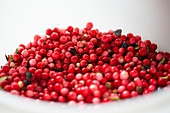 A bowl of lingonberries