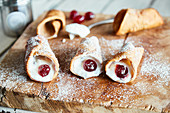 Cannoli (sweet pastry rolls from Sicily)