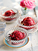 Instant no freeze ice cream with summer berries