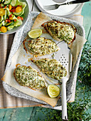 Lime herb crusted chicken