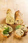 Lady's mantle bread and parsley bread