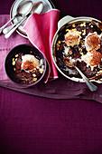 Microwave choc-hazelnut self-saucing pudding