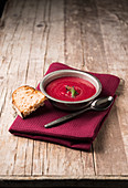 Beetroot soup with cress