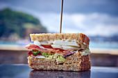 Ein Clubsandwich (Nahaufnahme)