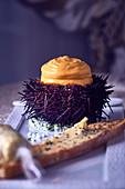 A stuffed sea urchin