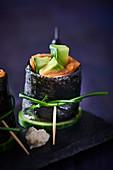 Maki sushi with fish and avocado (Japan)
