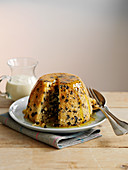 Spotted Dick (steamed pudding with dried fruit, England)