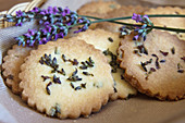 Lavender biscuits using English Lavender (Lavendula angustifolia)