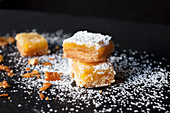 Stacked Lemon Bars Dusted with Icing Sugar