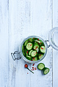 Pickled cucumber slices