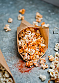 Popcorn with smoked paprika