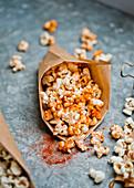 Popcorn with smoked paprika