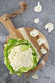 Cauliflower and cauliflower tops
