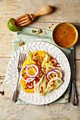 Fenchel-Orangen-Salat mit roten Zwiebeln