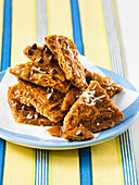Graham cracker toffee with chocolate chips and coconut