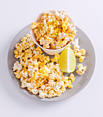 Lime and cajun spiced popcorn