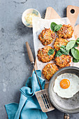 Tuna and vegie fritters