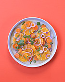 Oriental orange and carrot salad