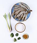 Zutaten für Garnelen Asia-Style