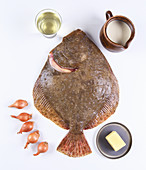 Ingredients for baked turbot