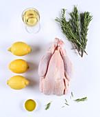 Ingredients for lemon chicken