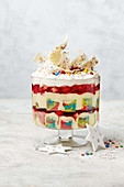 Rainbow party trifle