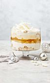 White peach mimosa trifle
