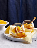 Warm orange trifle