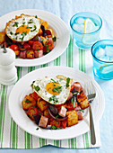 Crispy Potato and Ham with Egg