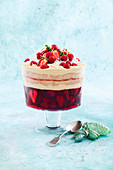 Berry and coconut christmas trifle