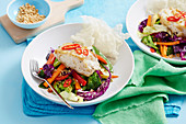 Thai Fish Salad with Crispy Rice Paper