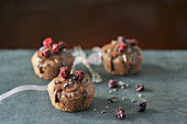 Chocolate and blackberry muffins