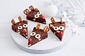 Chocolate Brownie Reindeer