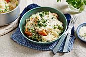 Lauch-Gemüse-Risotto mit Parmesan